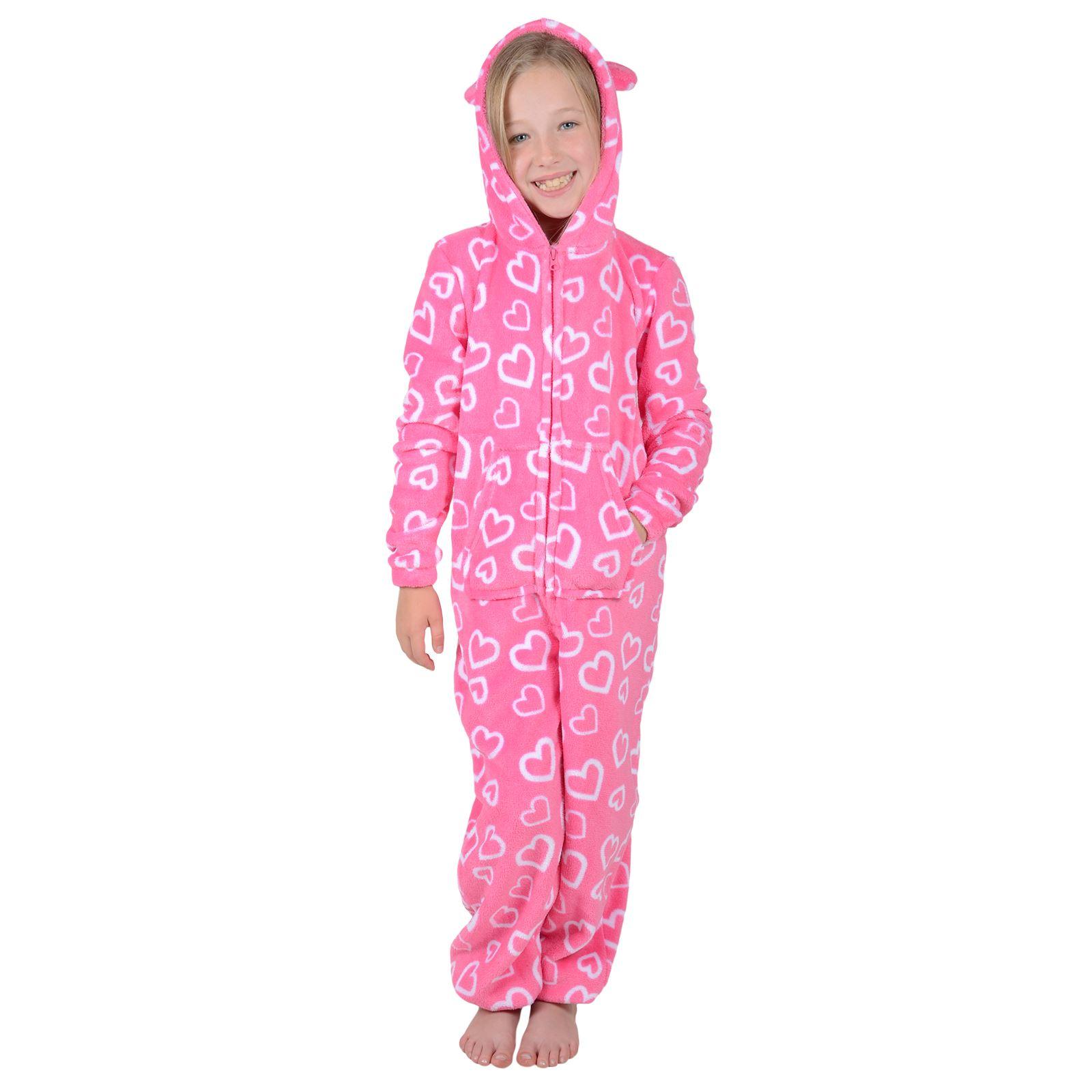 Roaster Toaster Girls Hooded Fleece All In One Piece Pyjamas Jump Sleep Suit  Onesie PJ Nightwear 973ada0a1