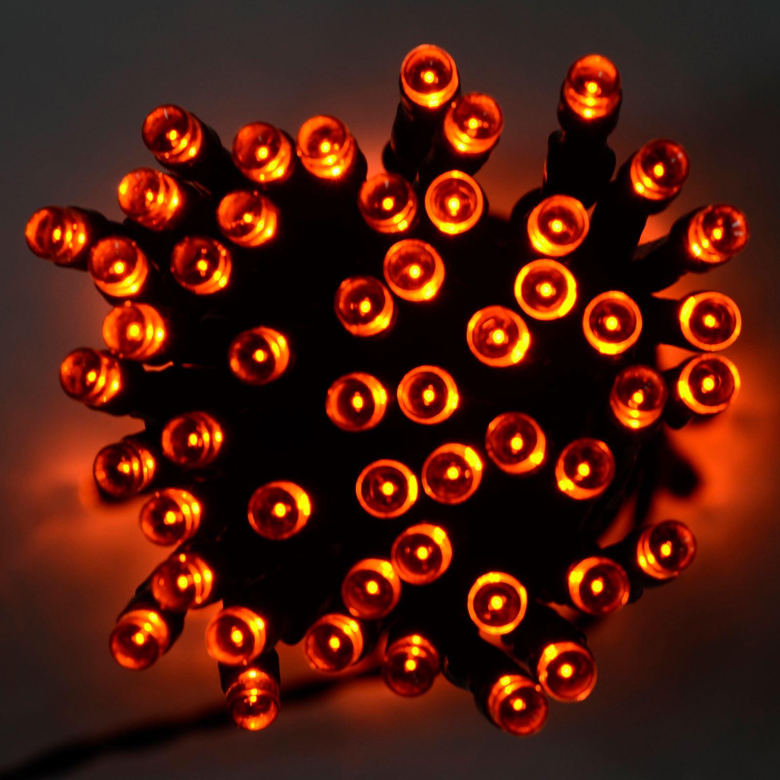 100 Led Orange Purple Green String Fairy Lights Halloween