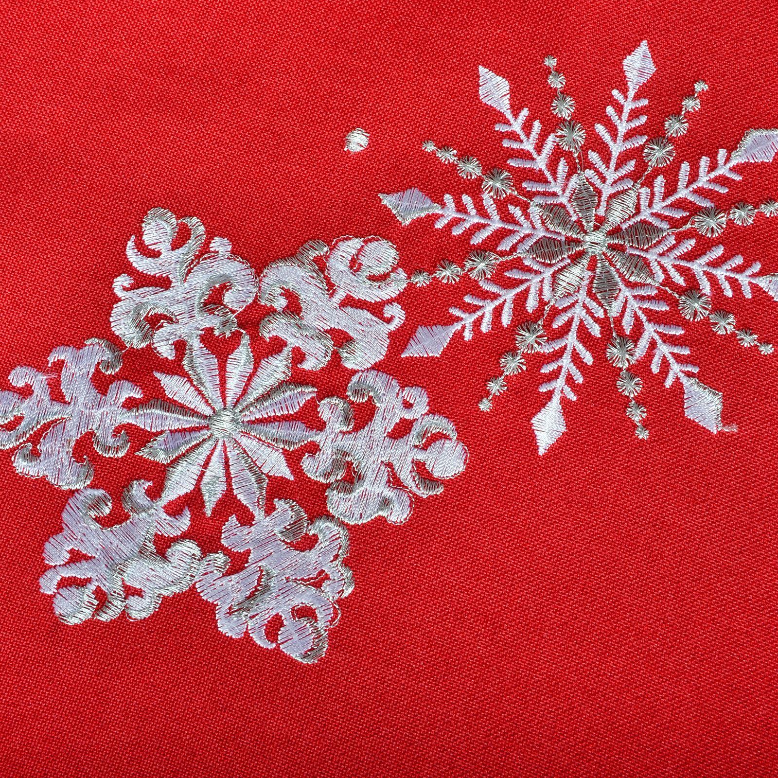Christmas-Tablecloth-Festive-Pattern-Rectangle-Round-Fabric-Xmas-Room-Decoration Indexbild 38