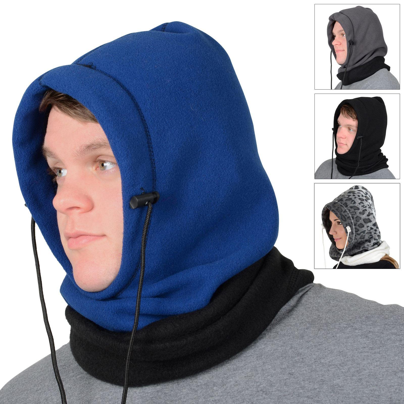 ARCTIC-X 6-in-1 Fleece Hood balaclava Facemask Beanie Scarf Hood Bag Winter Cold