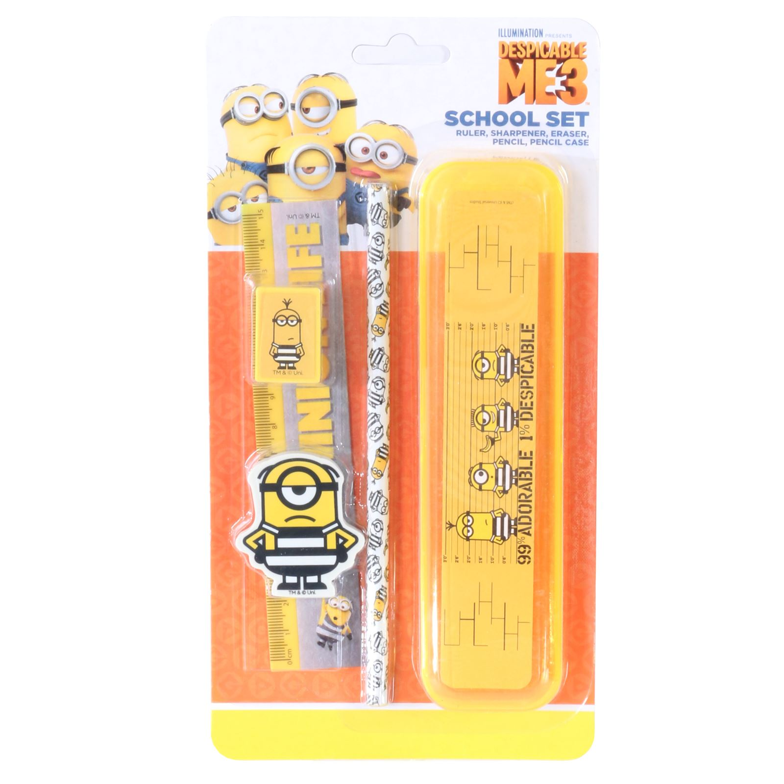 10 x Student Set includes Ruler Pencils Pen Eraser Sharpener BACK TO SCHOOL