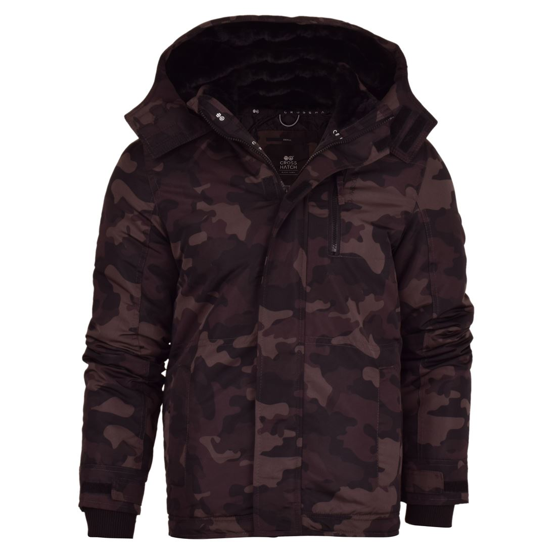 New Mens Crosshatch Hooded Jacket Genuine Hoodie Zipped with Pockets S-XXL