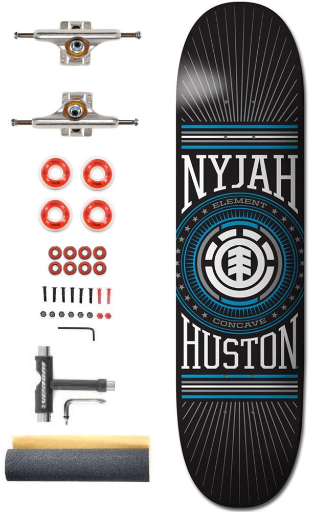 Element Featherlight Nyjah x Independent Pro Custom Complete Skateboard -  8.0 408f7f9633b