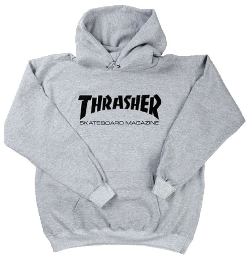 e216bc95a662 Thrasher Skate Mag Logo Hoodie - Grey Heather Small. About this product.  Picture 1 of 2  Picture 2 of 2