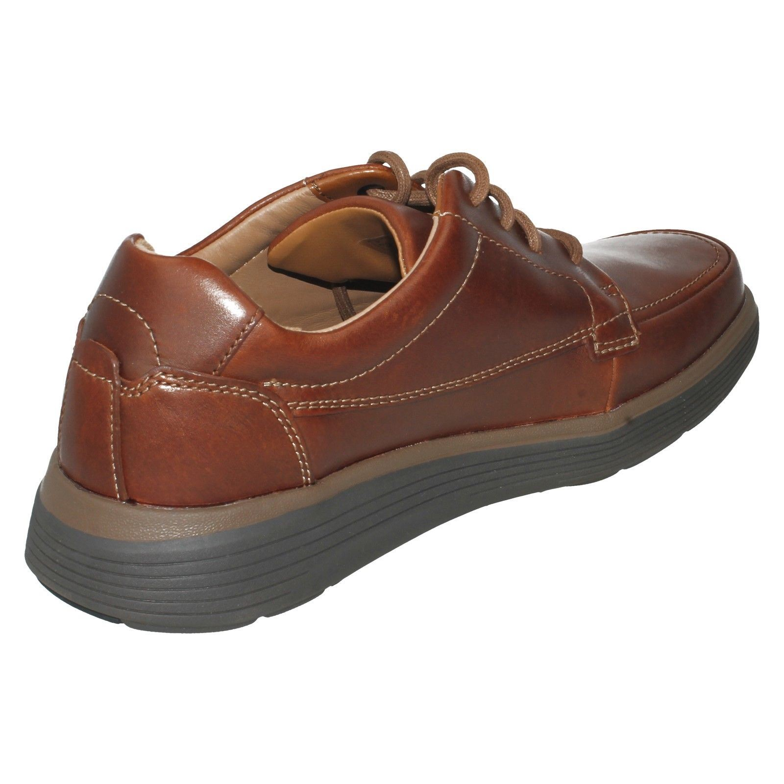 Herren UnstructuROT by Clarks Leder Style Lace Up Casual Schuhes Style Leder - Un Abode Ease 4778b4