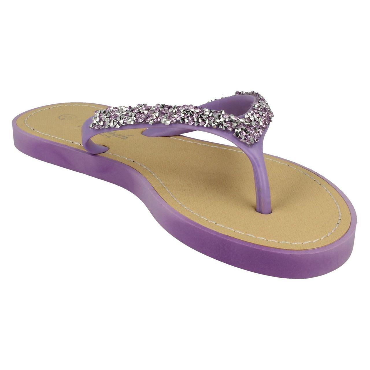 Sandalias de verano señoras de la Sabana Toe Post F0806 Etiqueta ~ K