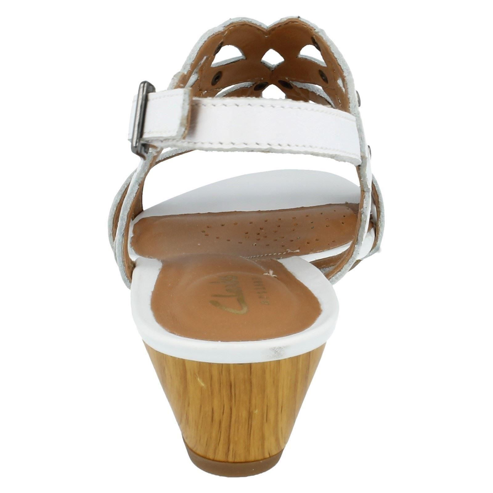 28d7aea0d86 Clarks Womens Playful Tunes Leather Sandals in White 28c08 8 D. About this  product. Picture 1 of 9  Picture 2 of 9  Picture 3 of 9 ...