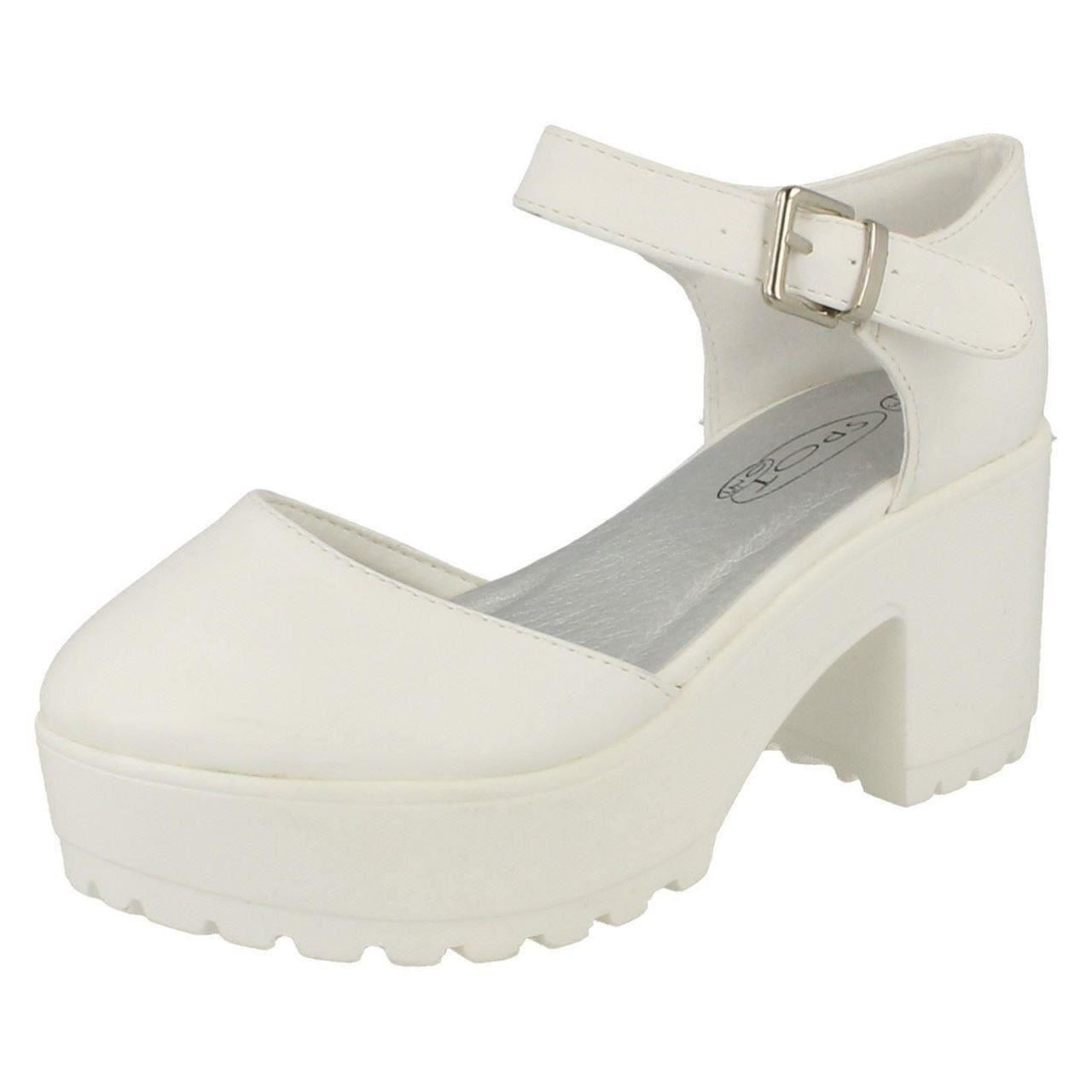 Girls Spot On Platform Heeled Shoes Label H3047 - D