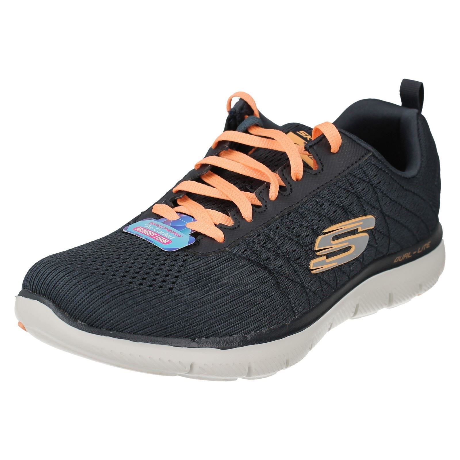 4aea681c3774 Ladies Skechers Flex Appeal 2.0 Break Lace up Running Sports Trainers 12757  Charcoal UK 3 Standard. About this product. Picture 1 of 10  Picture 2 of  10 ...