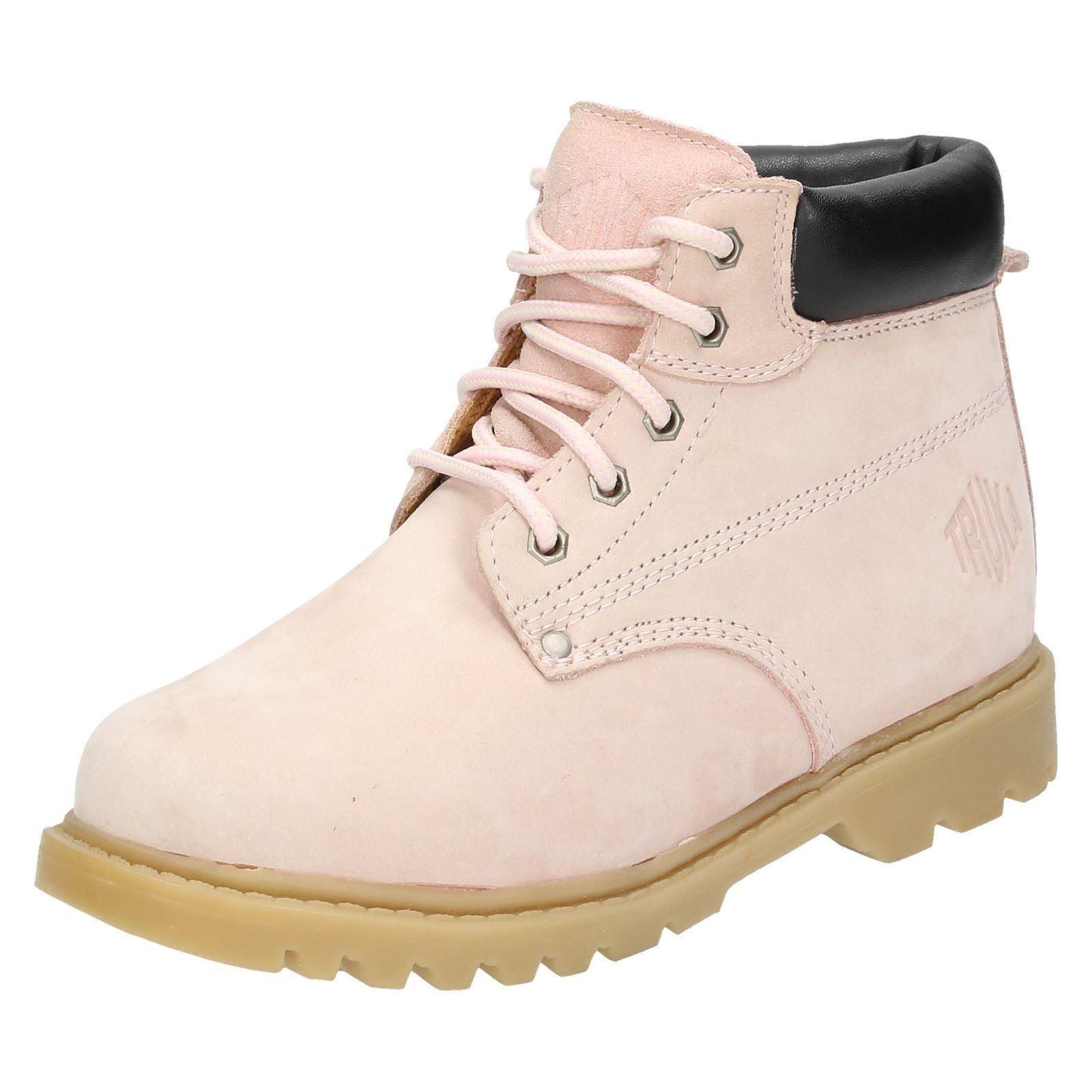 Señoras Truka Con Cordones Caminar/Senderismo/botas de trabajo Mal 55' Etiqueta ~ K