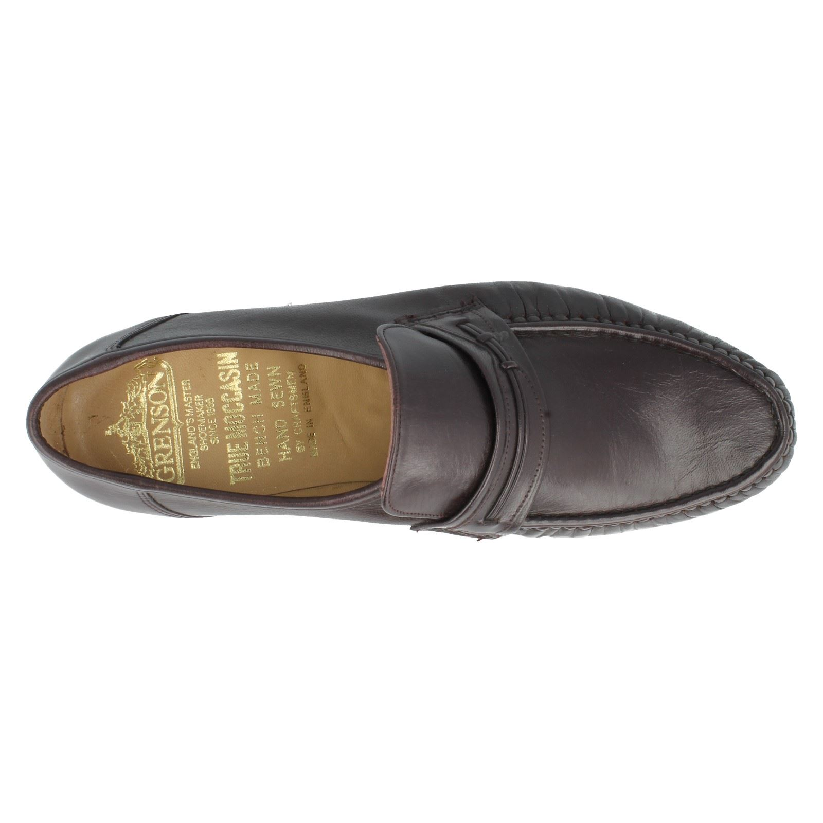 Para Hombre Grenson Fx Slip On Leather Fx Grenson Fit mocasines formales Zapatos Orlando 9648 95e611