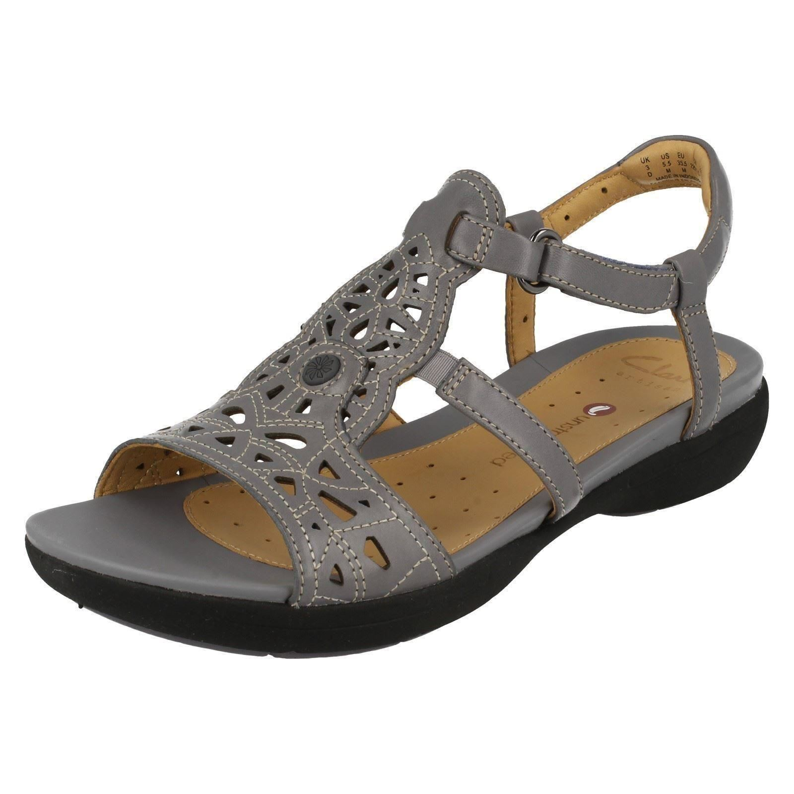 91908167d50 Women s Clarks Un Valencia Strap Sandals in Grey UK 5   EU 38. About this  product. Picture 1 of 9  Picture 2 of 9 ...