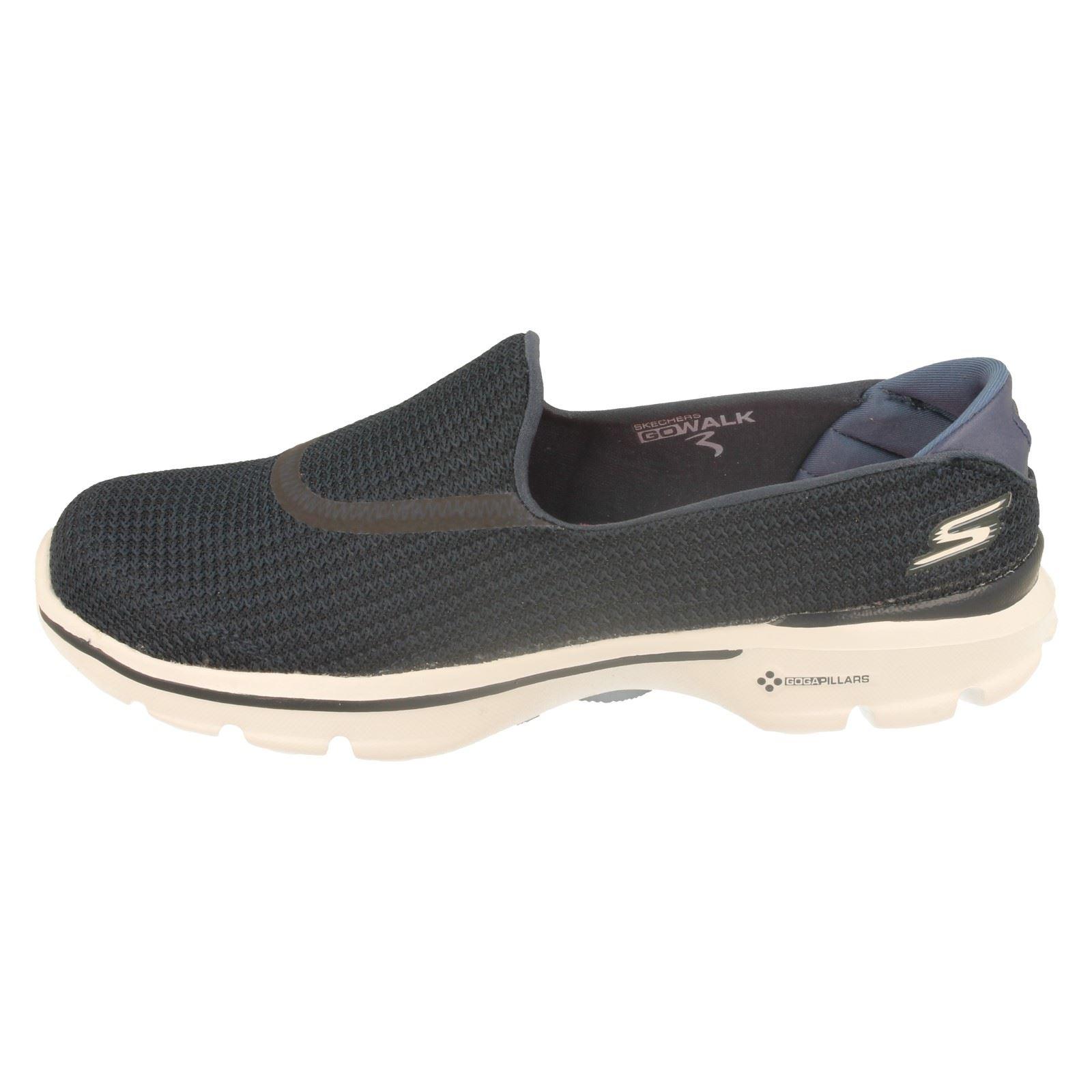 Ladies Skechers 13980 Go Walk 3 Goga Mat Lightweight Shoes