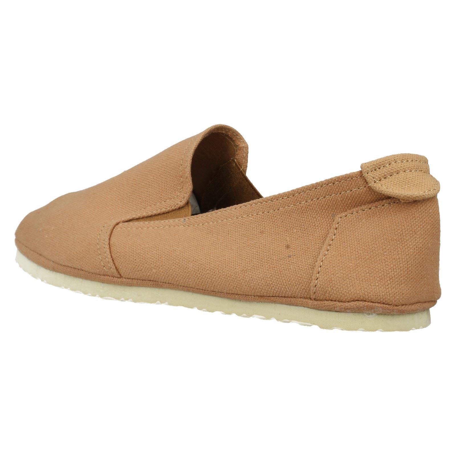 Para Hombre Spot On Informales Zapatos de lona A1080