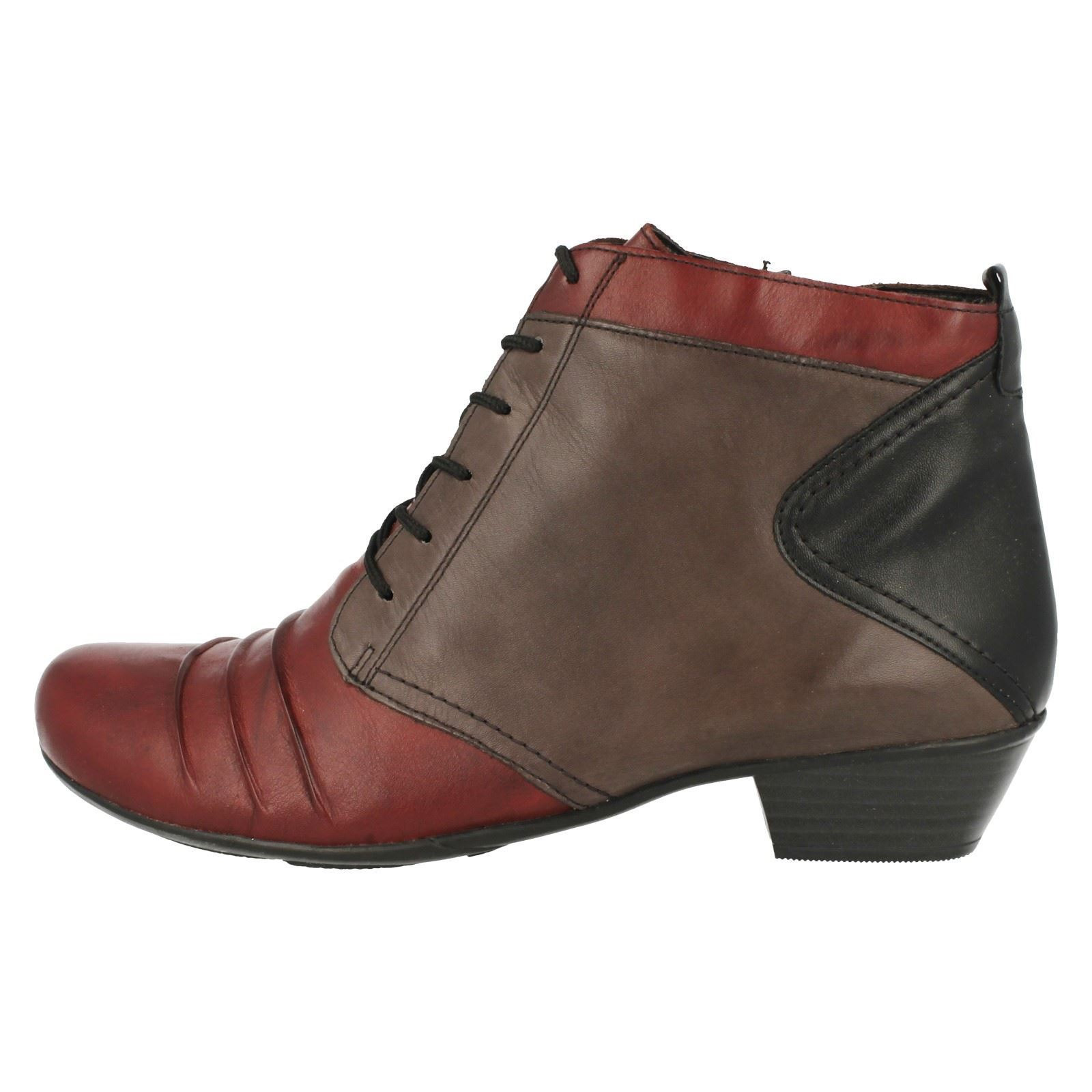 remonte leather lace up fleece lined boots d7371