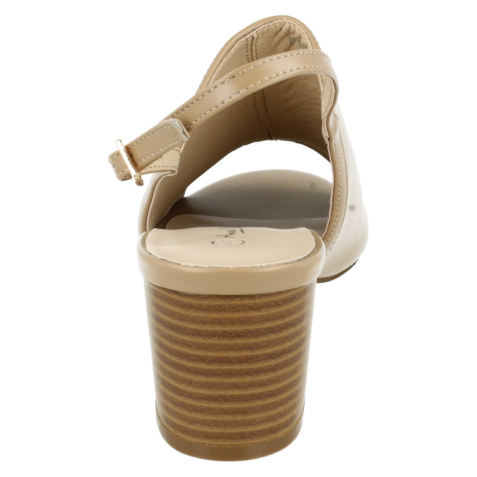 Damas Anne Michelle Talón Mediados Tribunal Zapatos Etiqueta-F10733