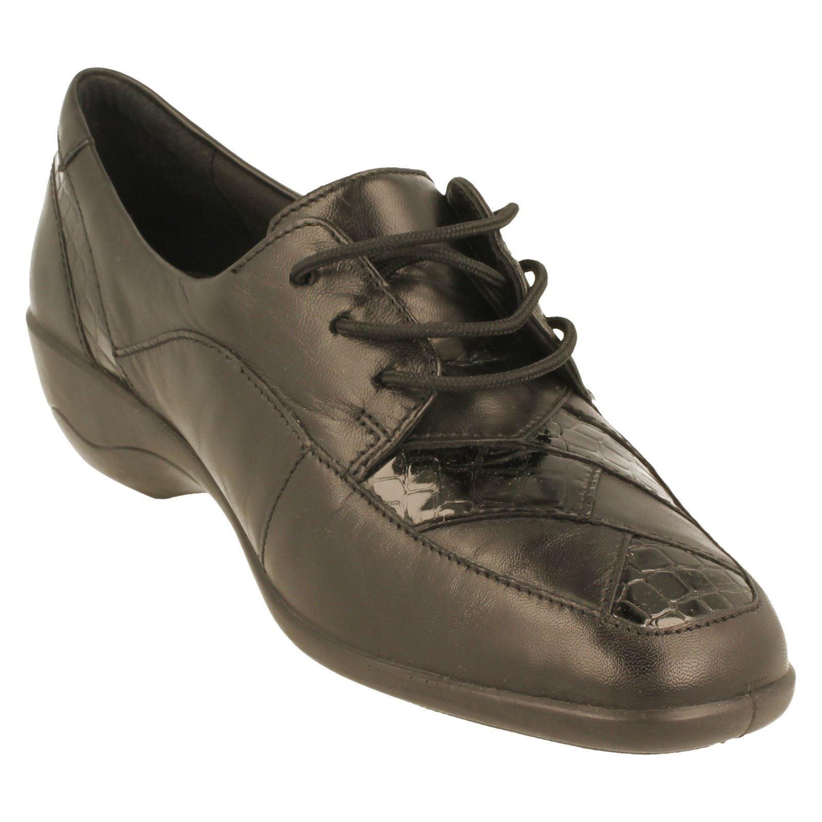 Extra Fitting Greta w Label Black Combi Shoe Padders Wide Ladies g7xqw545