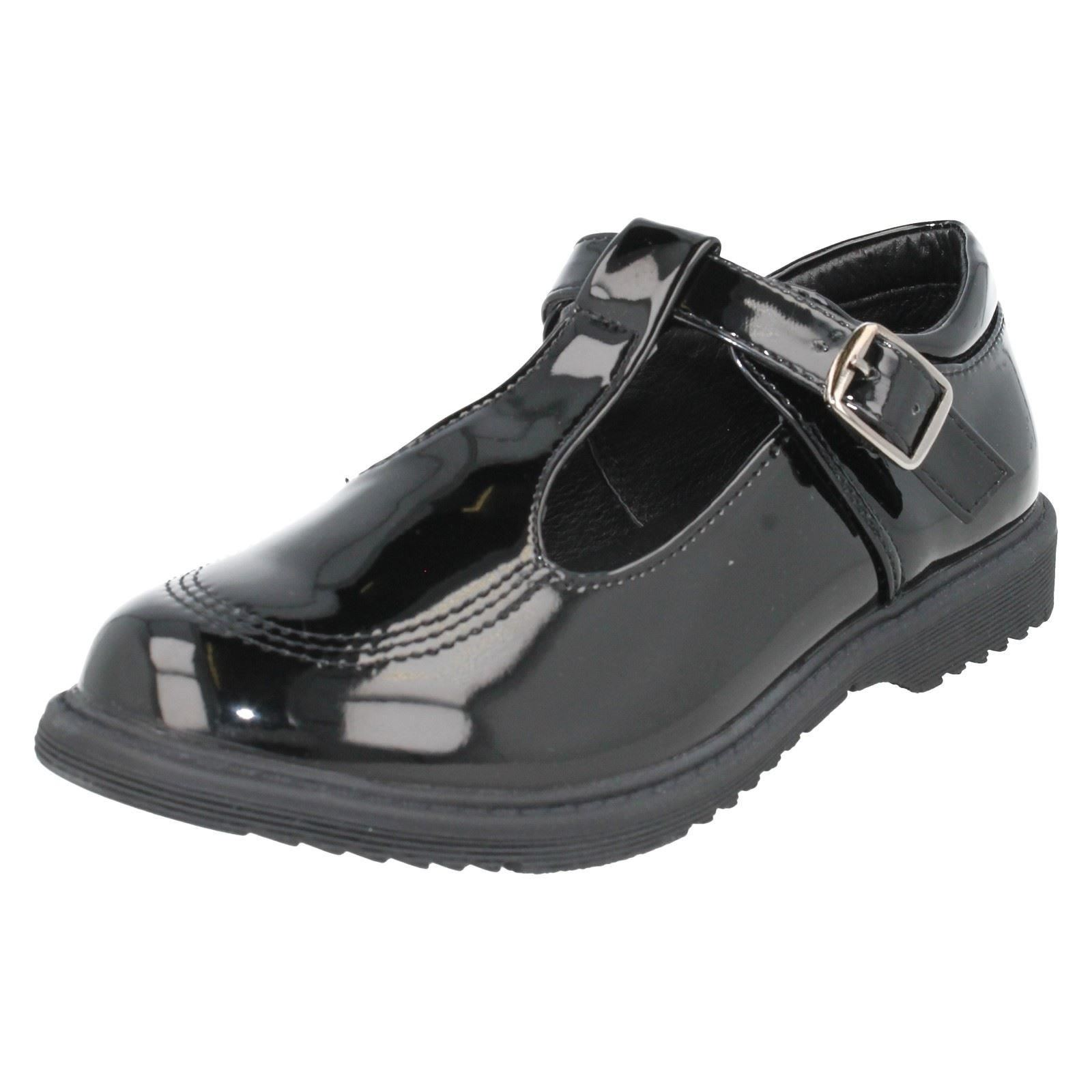 Girls Cool 4 School Buckle Strap School Shoes Style H2433