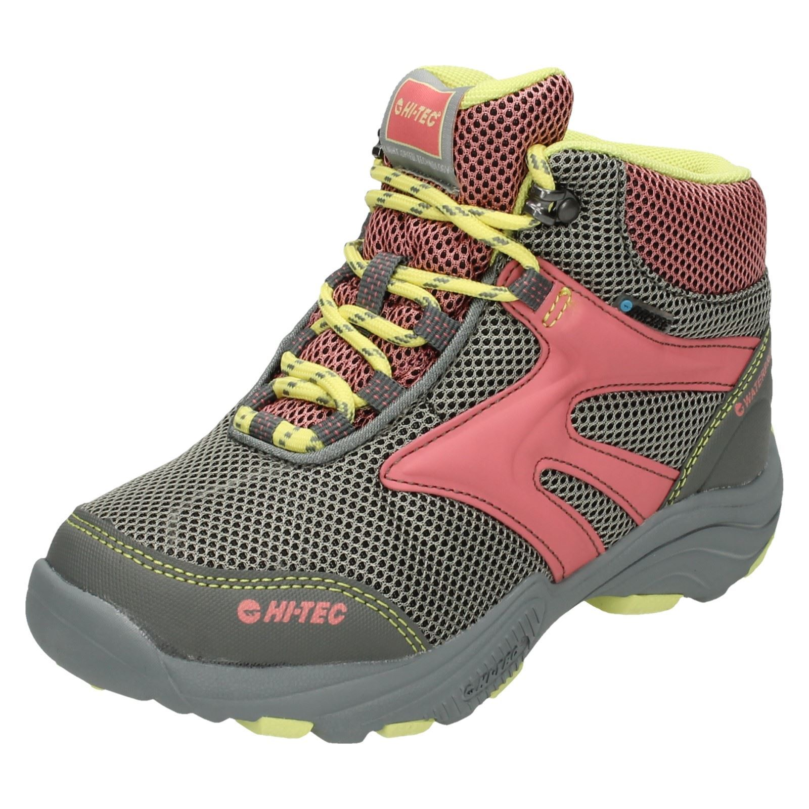 Girls Junior Hi-Tec Walking Boots Flash Fast Hike