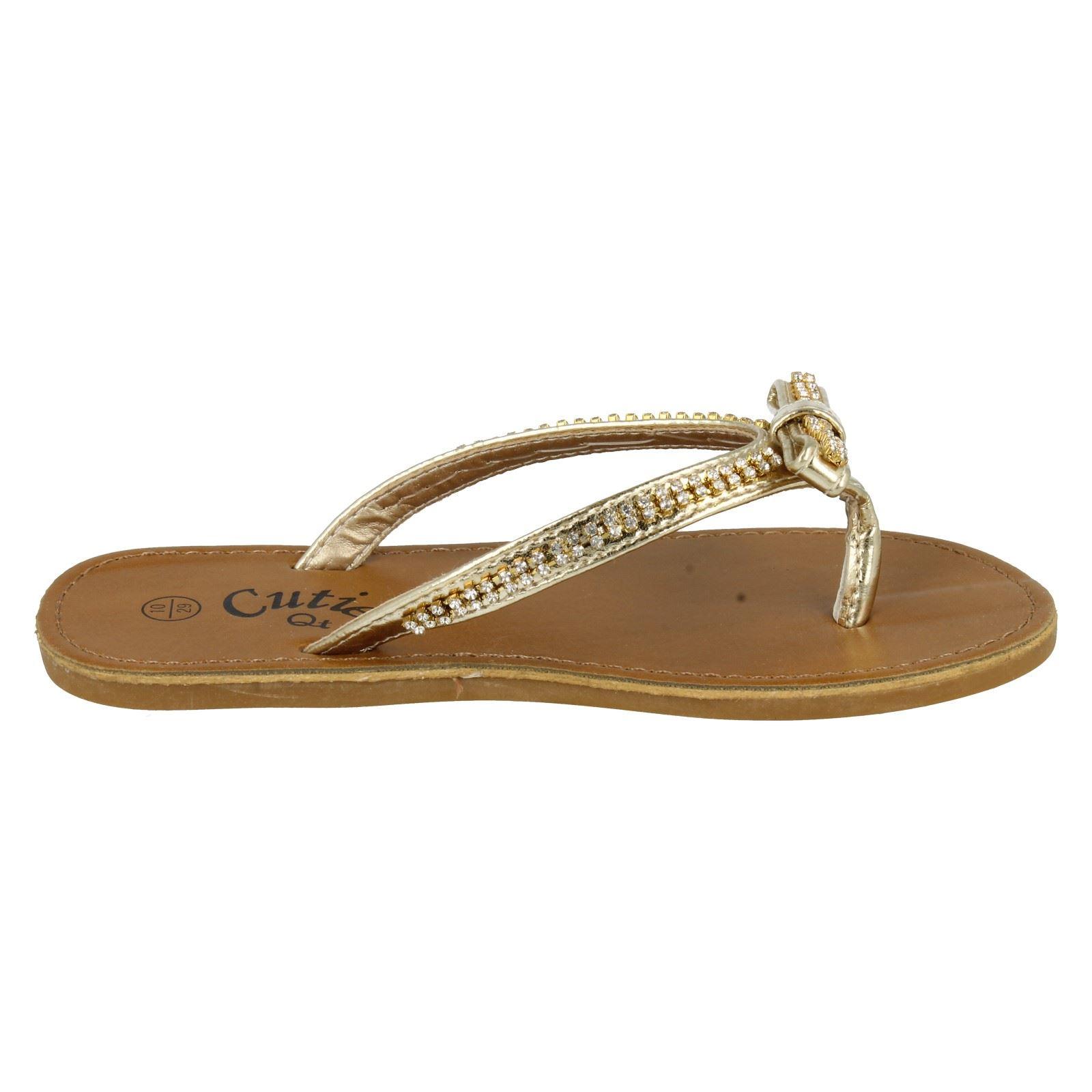 Chicas Cutie Toe Post Sandalias H0041 estilo ~ K