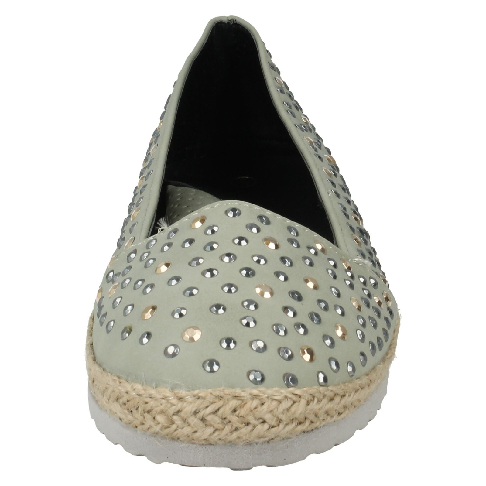 Mancha en verano señoras espadrills Zapatos de salón etiqueta-F8948
