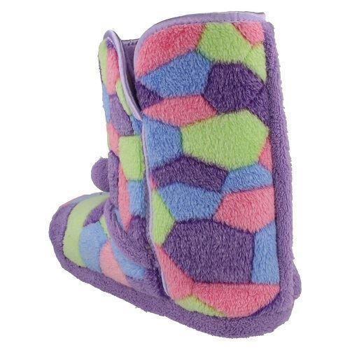 Señoras punto En Patchwork boot Zapatillas X2035 estilo ~ K