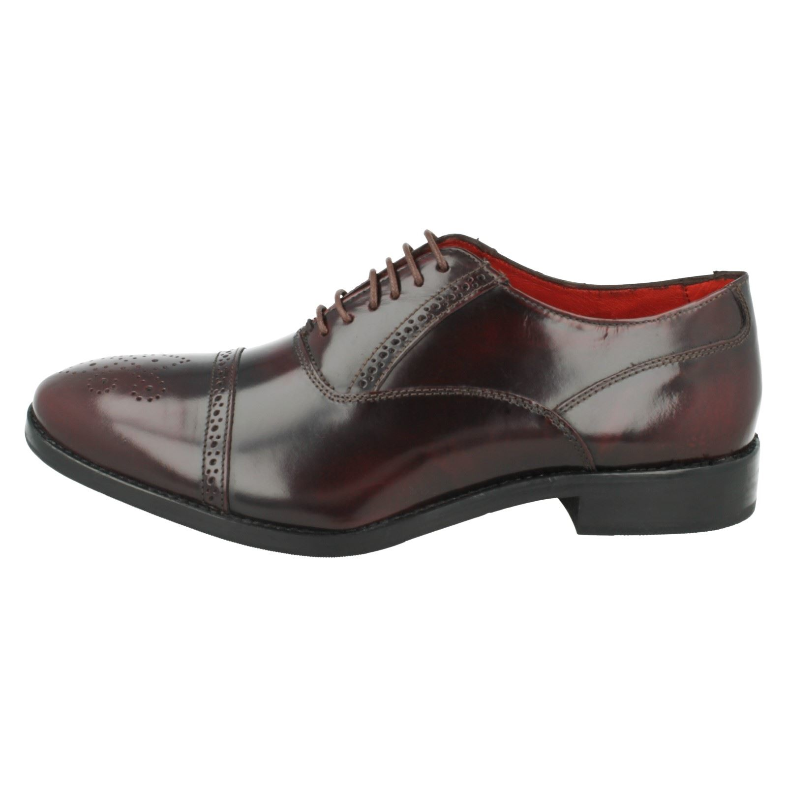 Mens Base London Noel Shoes Hi Shine Oxford Brouges Shoes Noel Label Bordo(Burgundy) 178ea0