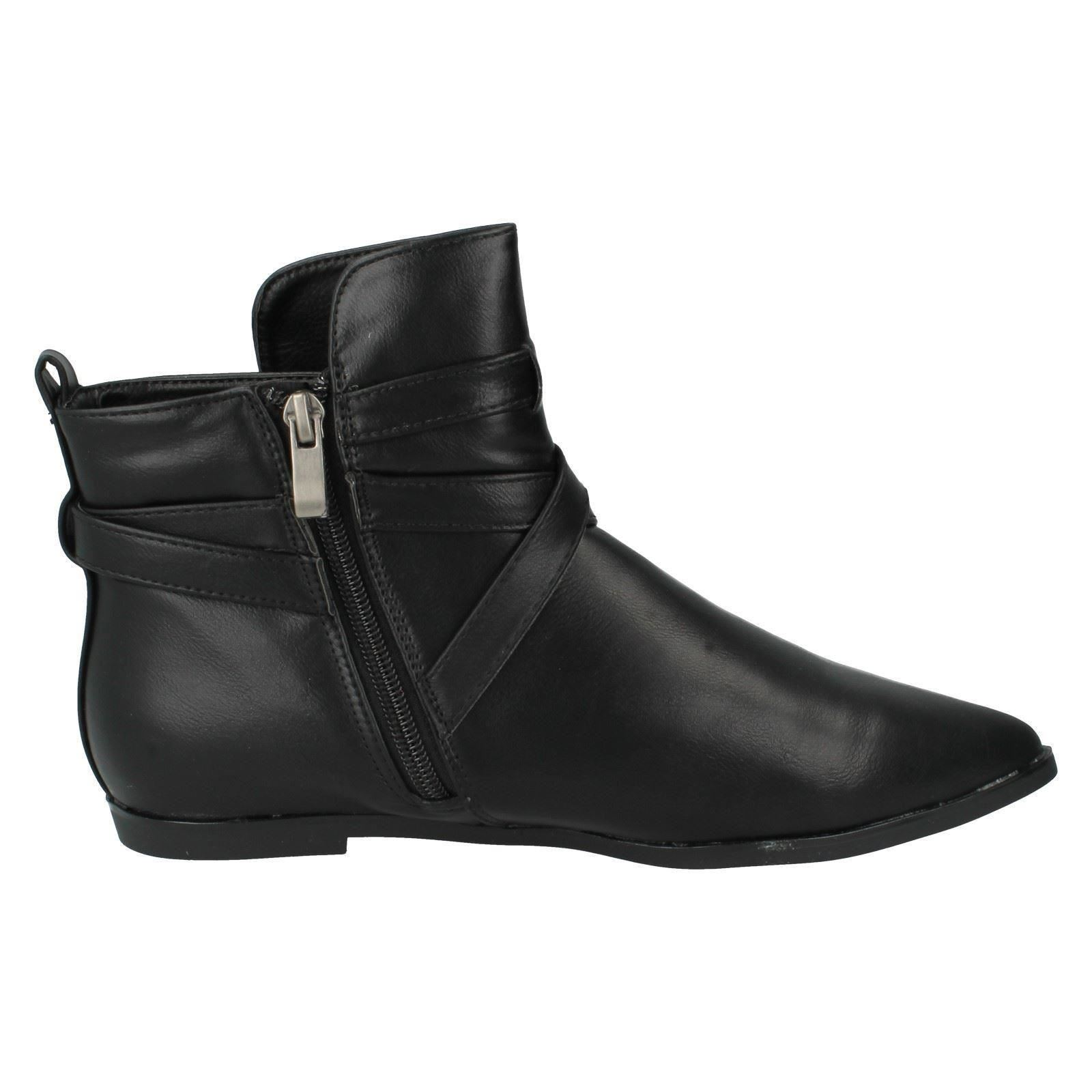 Ladies-Spot-On-Ankle-Boots-Style-F4364