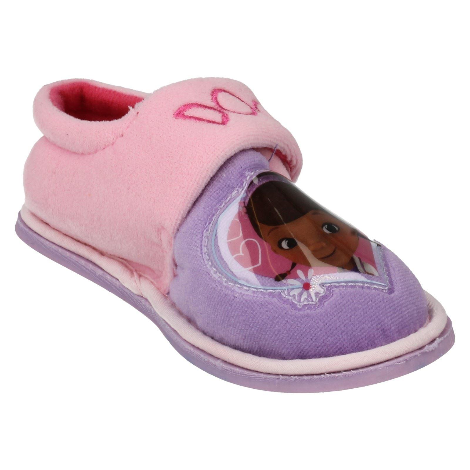Girls Doc McStuffins Slippers Label - Doc Daisy