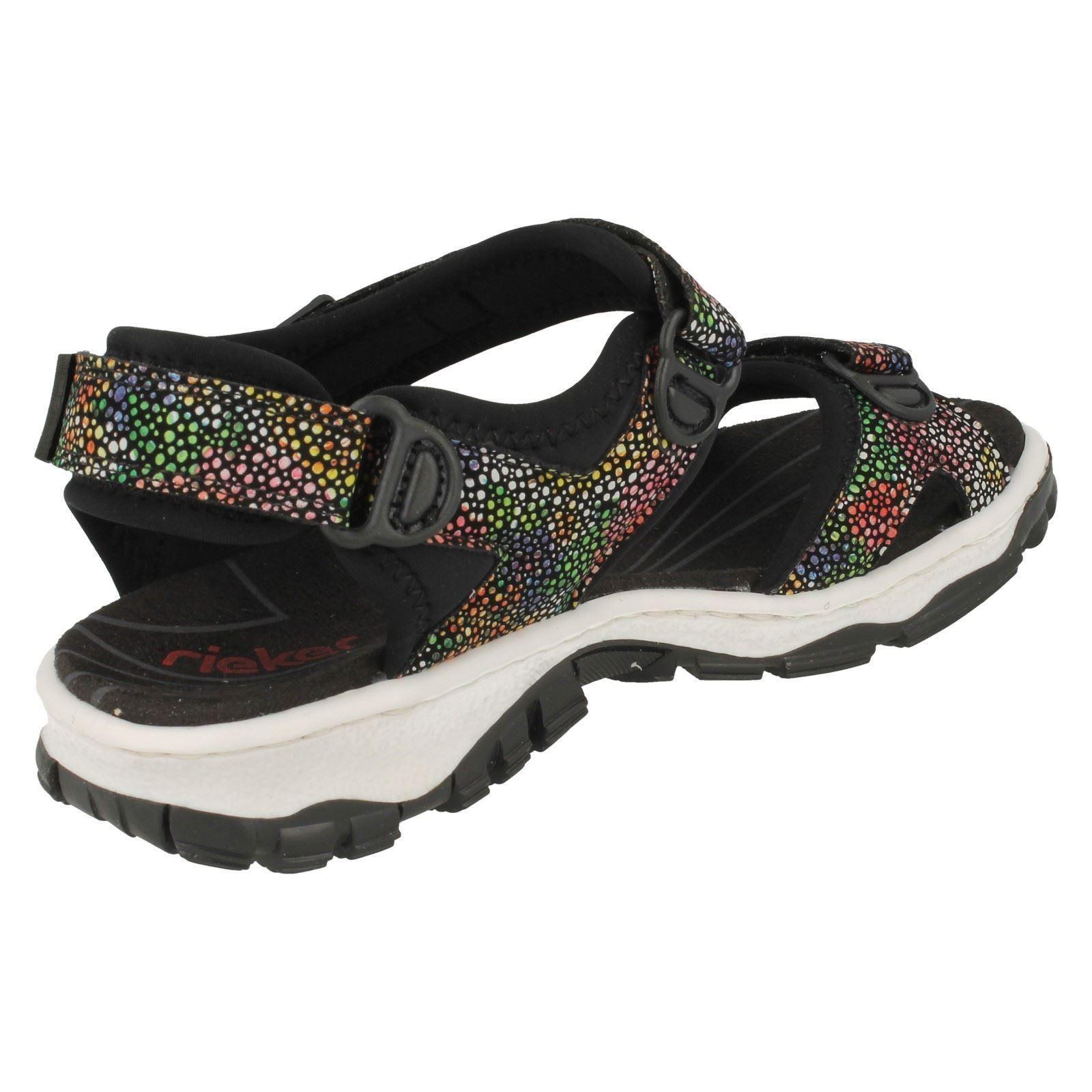 Combi Rieker Black Sandals Ladies 68863 HwIxdRtO