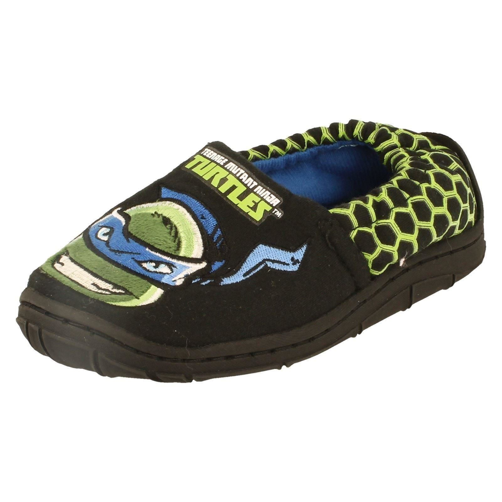 Para Niños Chicos Teenage Mutant Ninja Turtles Etiqueta slippers-w