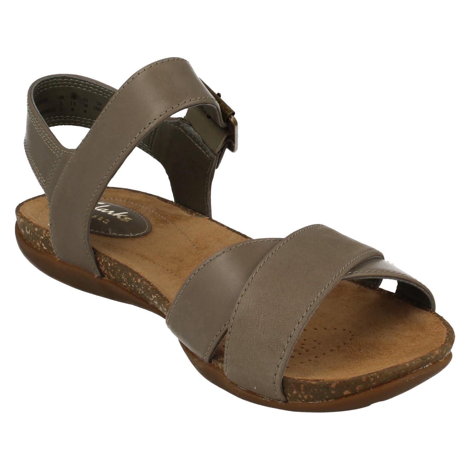 Sandalias de verano señoras Clarks Casual Hebilla Otoño De Aire