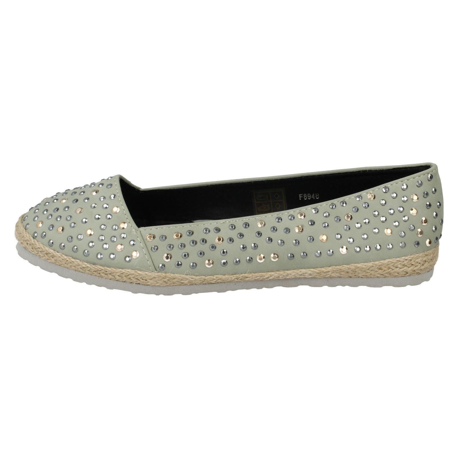 Mancha en verano señoras espadrills Zapatos De Salón Styel-F8948