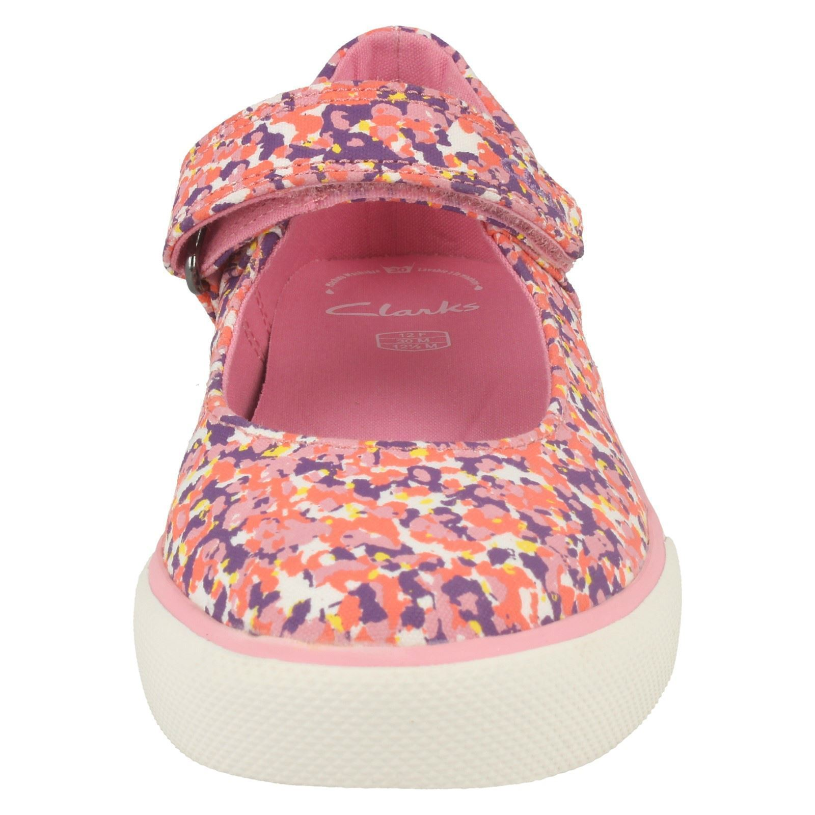 Girls Clarks Canvas Shoes Brill Gem