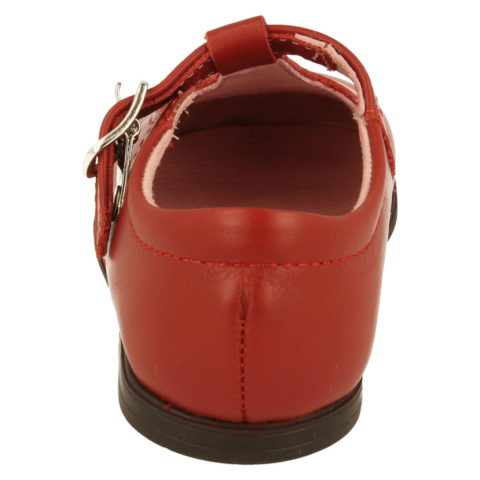 Niñas Startrite T Bar Zapatos Etiqueta Burbuja-W