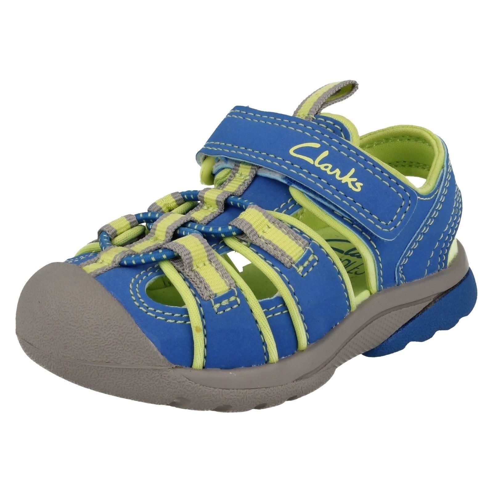 Children Clarks Closed Tos Hook & Loop Doodle Sandals BeachTide