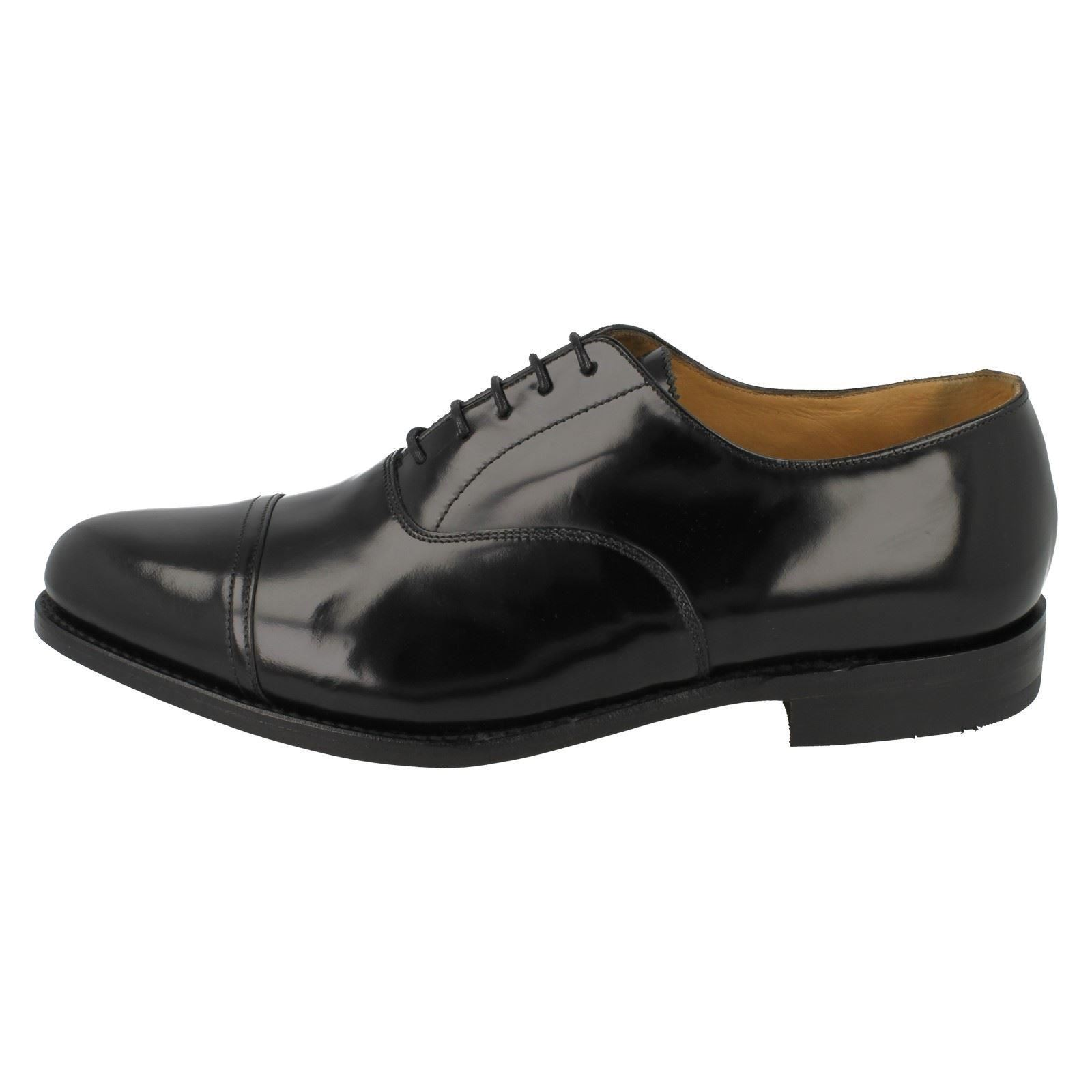 Mens Fitting Loake schwarz Formal Schuhes Fitting Mens G Label - Elland d6759c