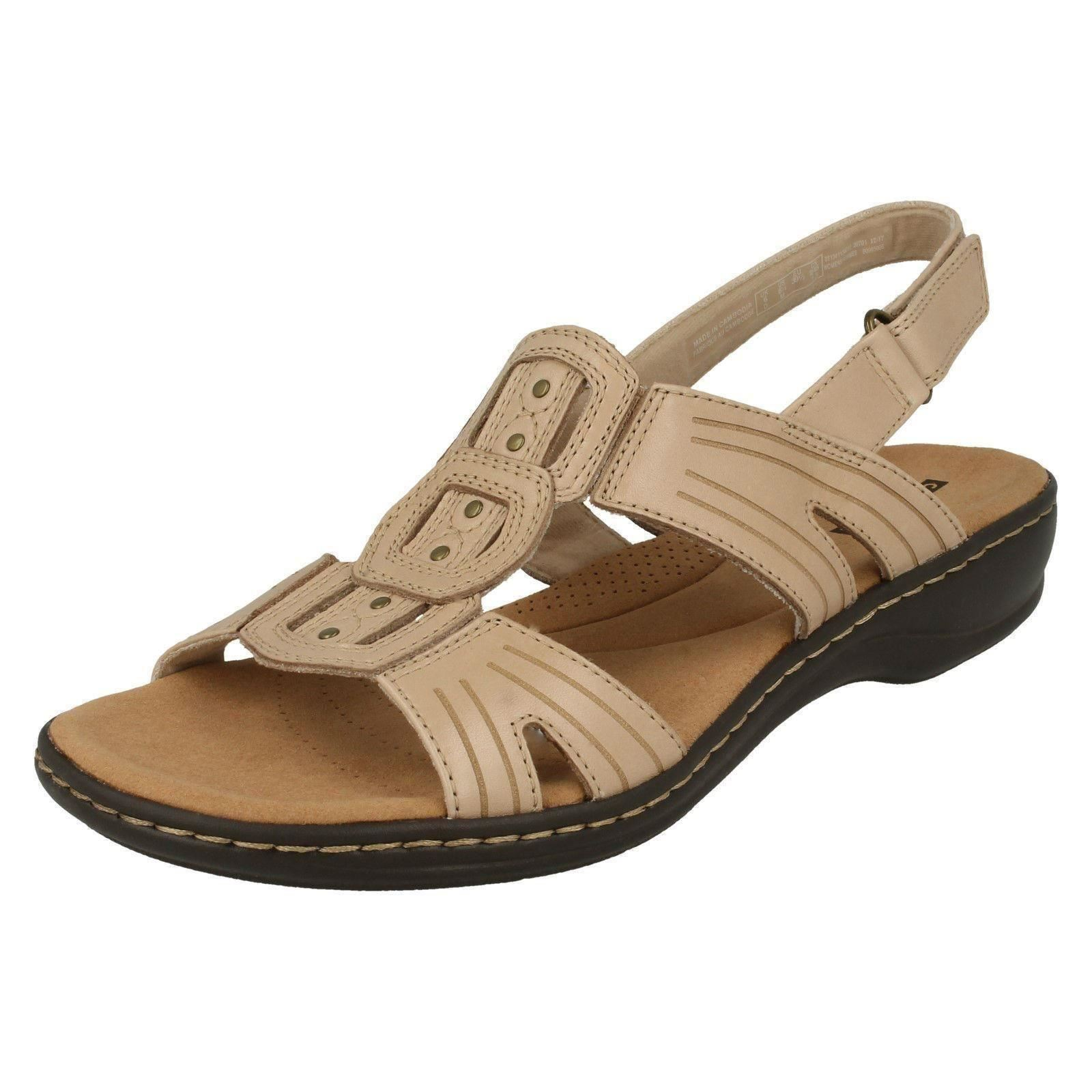 b22833c1639 Ladies Clarks Leisa Vine Strappy Sandals Sand (beige) UK 6 D. About this  product. Picture 1 of 7  Picture 2 of 7 ...