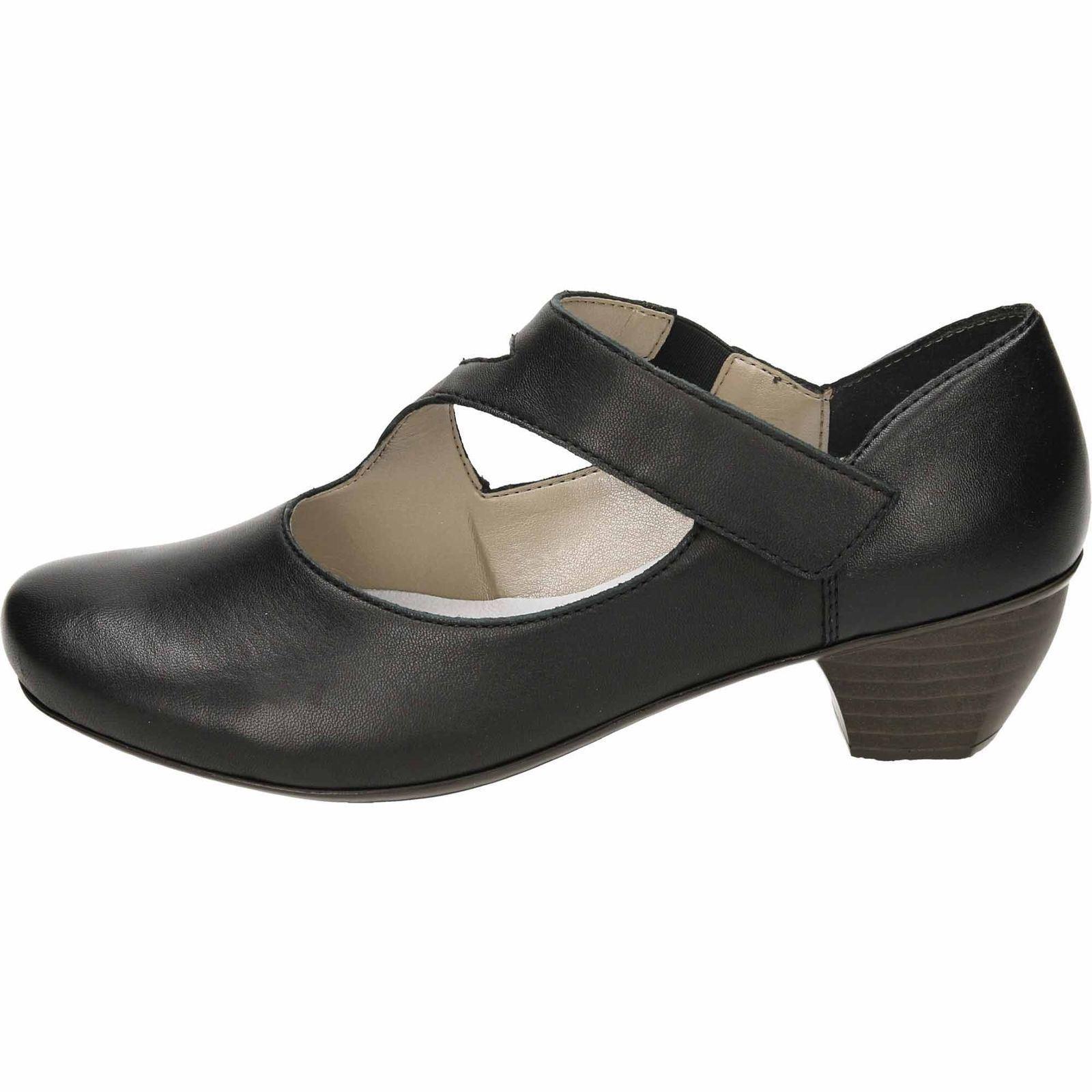 Ladies Mar 41793 Jane Rieker Style Shoes Black qR0qra