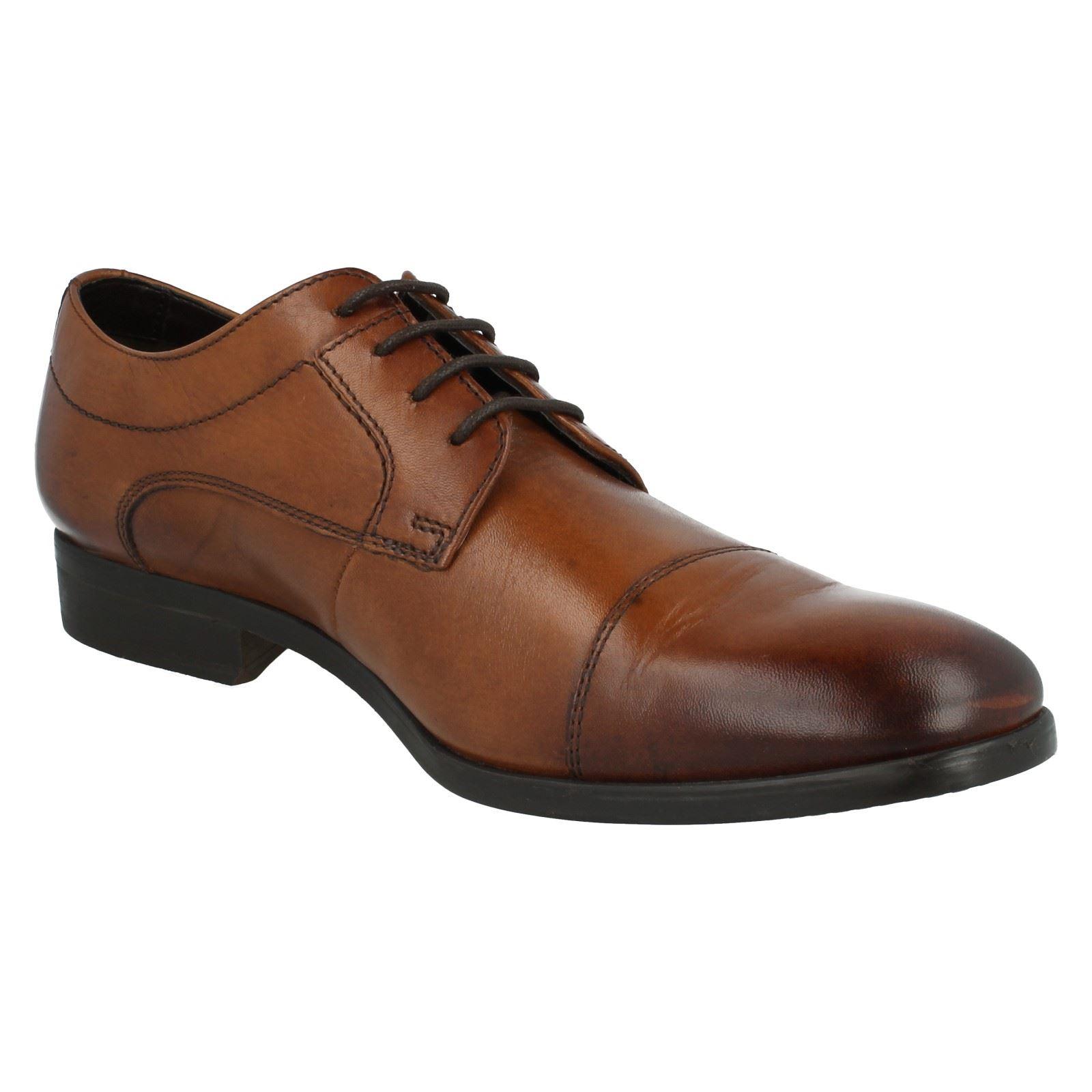 Men's Clarks Formal Lace Up Cap Shoes Label - Banfield Cap Up e95b00
