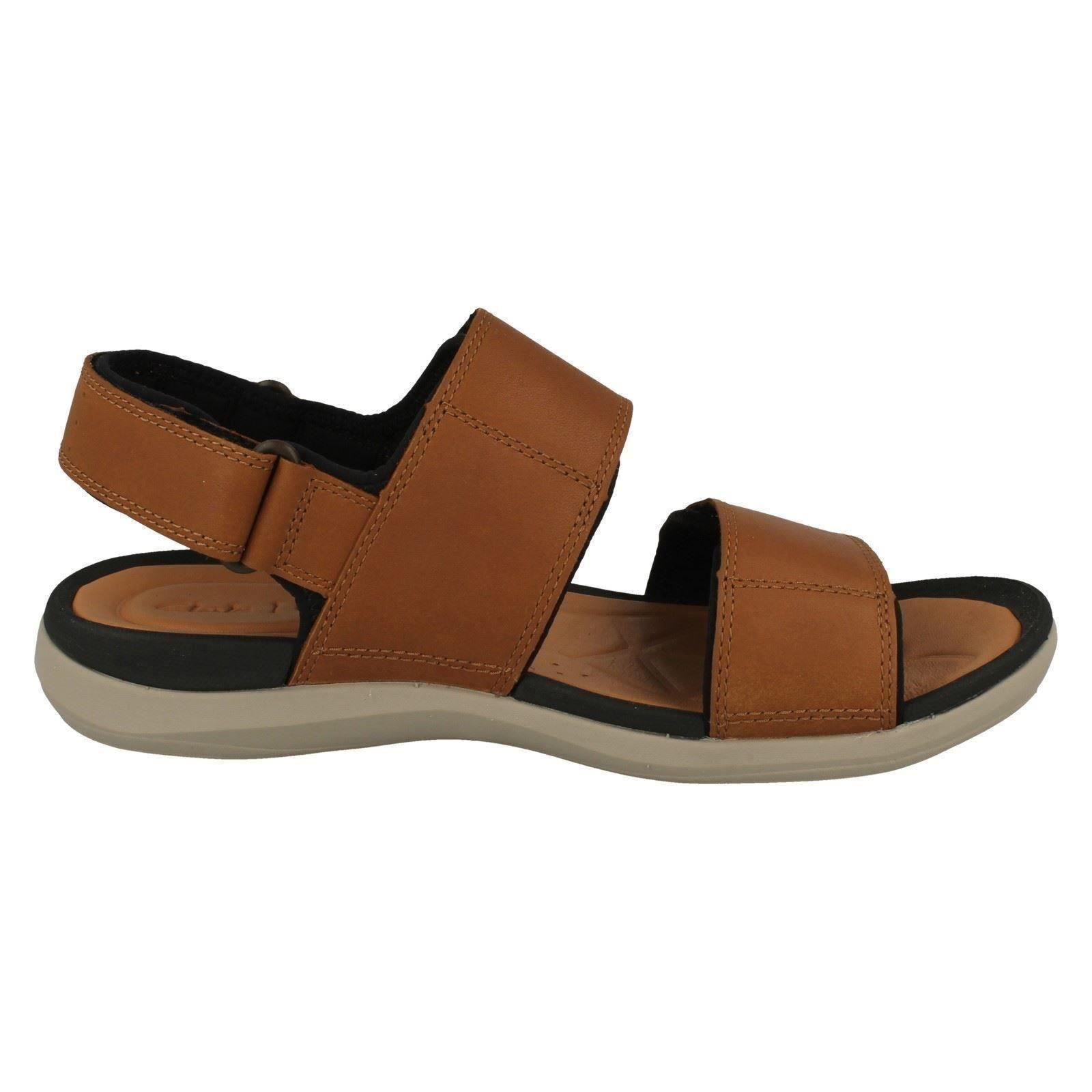 Men's Clarks Leather Open Toe Casual  Sandals The Style - Garratt Active
