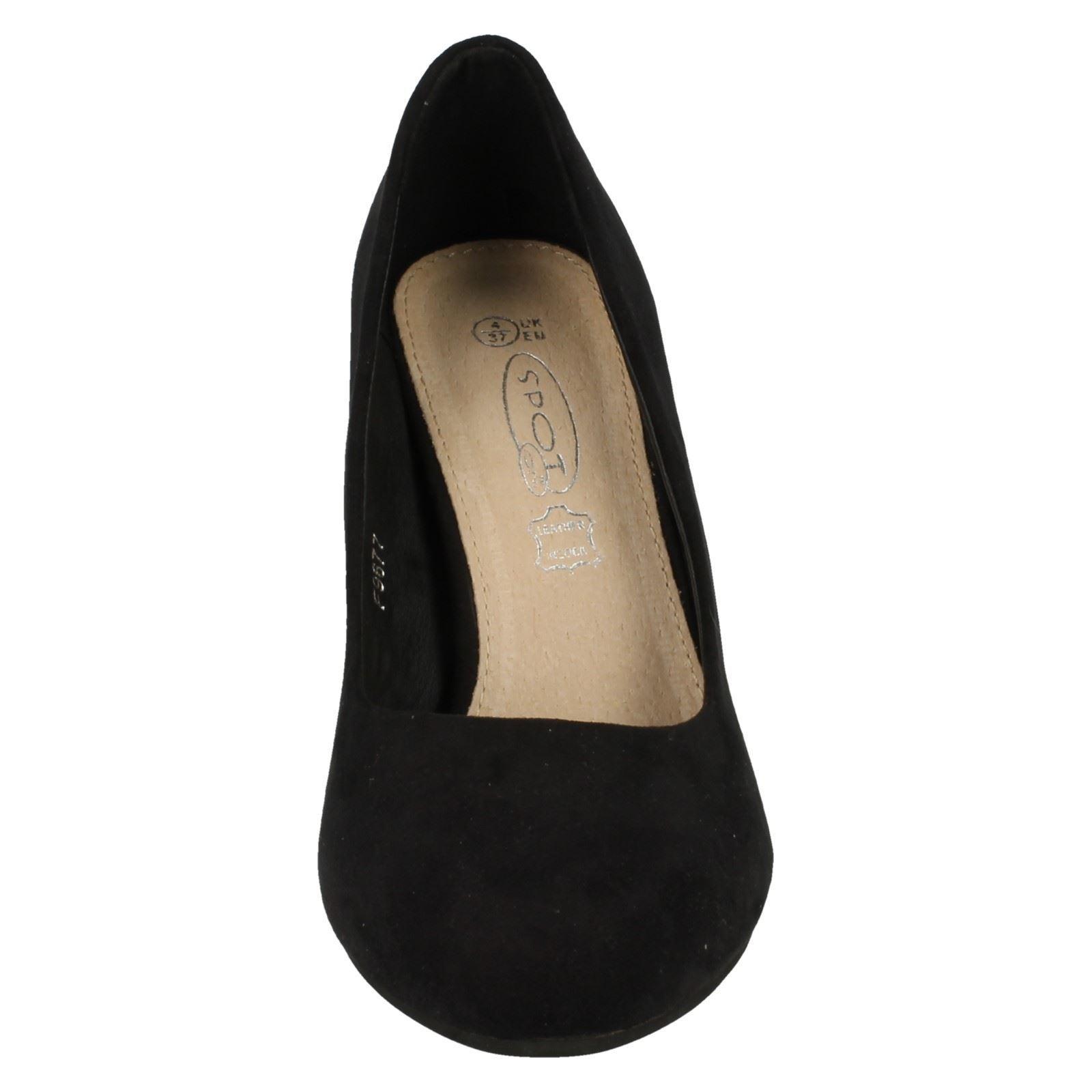 Mujer Spot On microfibra Zapatos De Salón Estilo - f9677-D