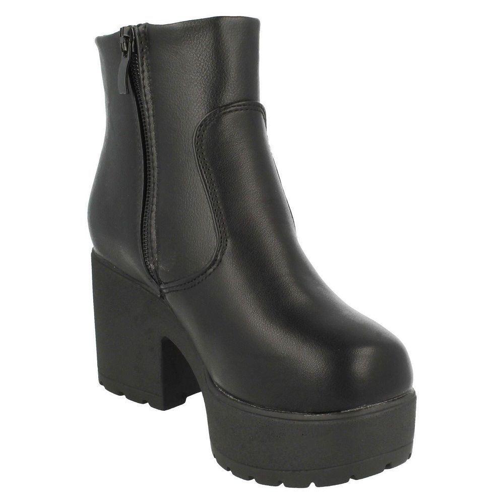 Girls Spot On Block Heel Boots H5049