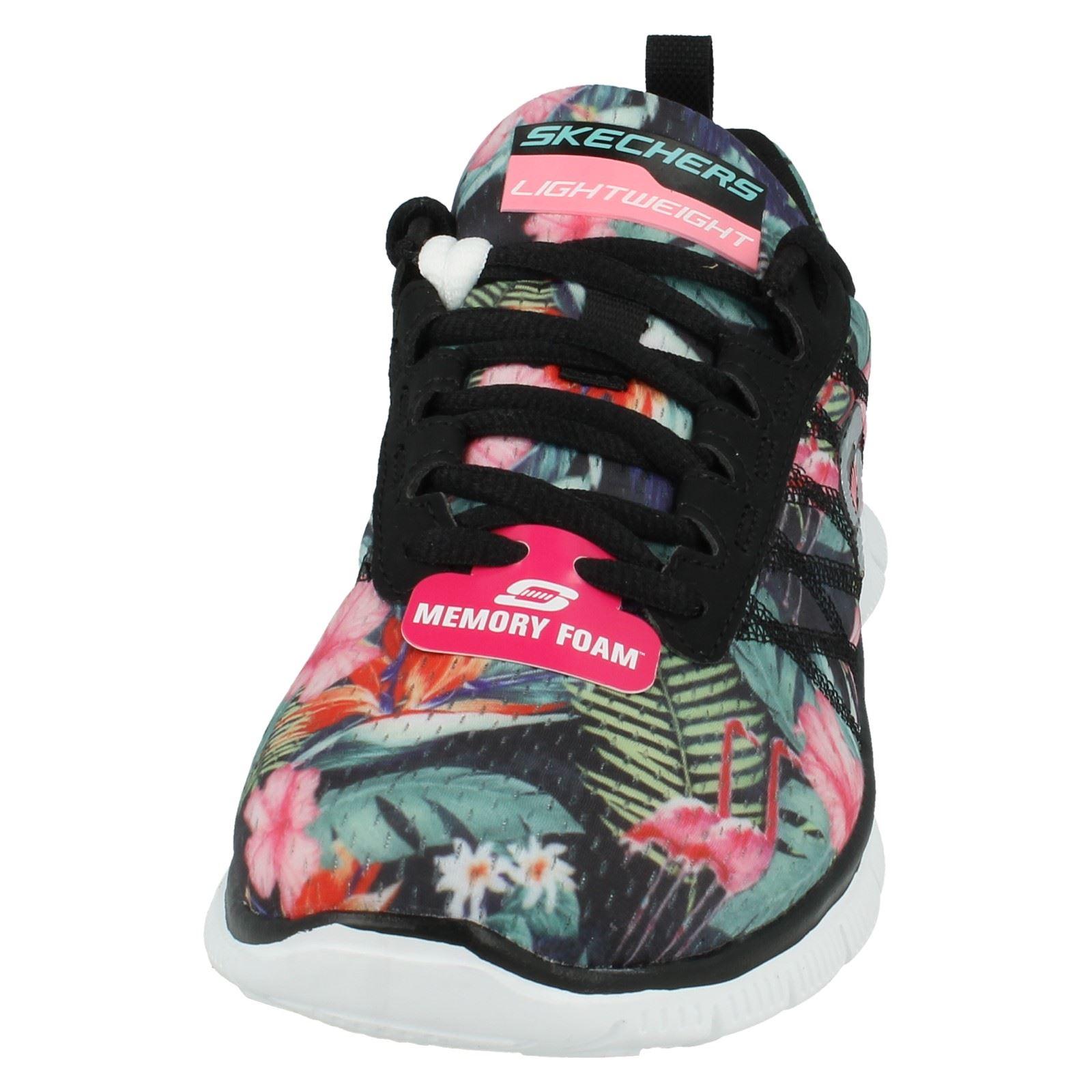 Damas-Skechers-Floral-Bloom-entrenadores-12061