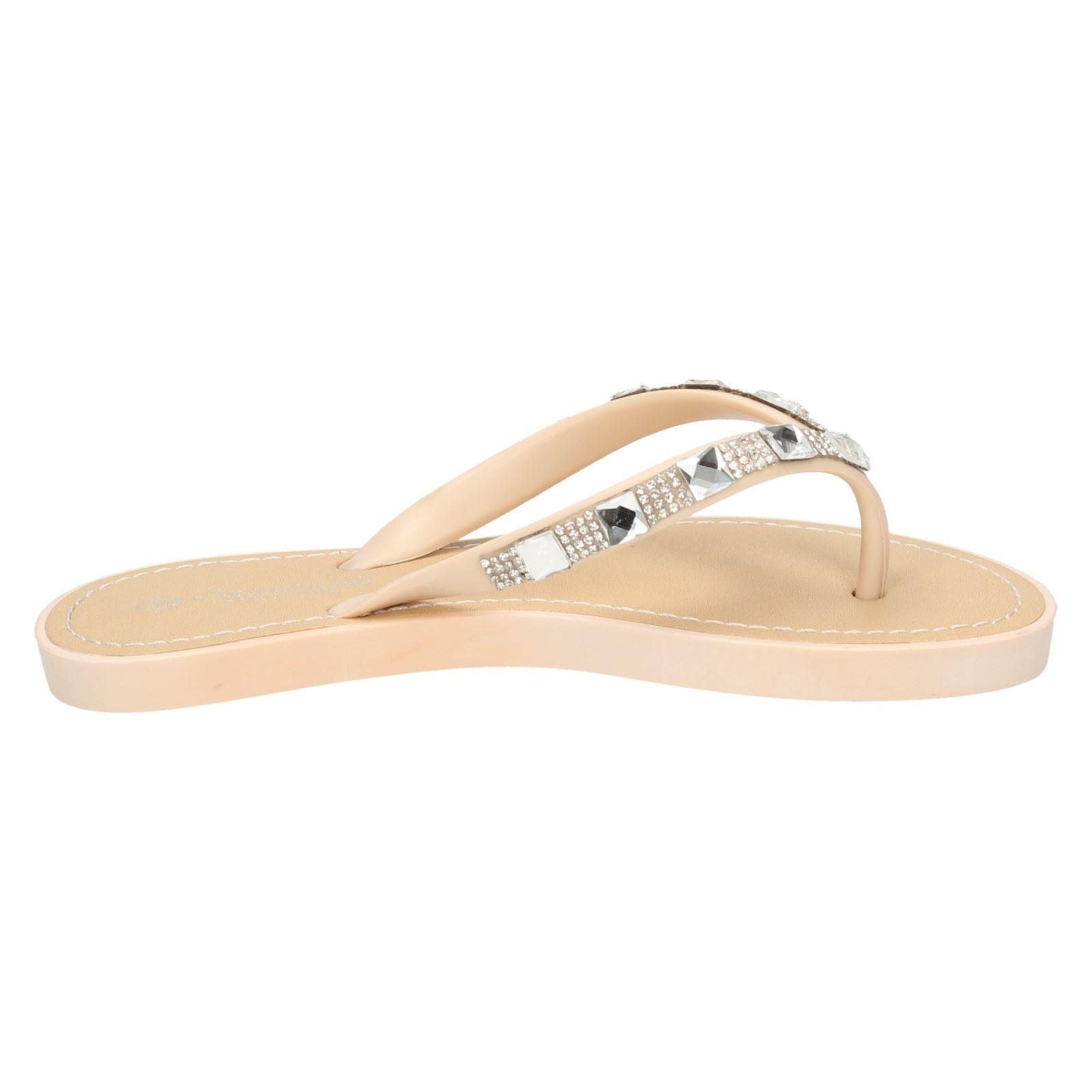 Sandalias de verano señoras de la Sabana Toe Post F0791 estilo ~ K