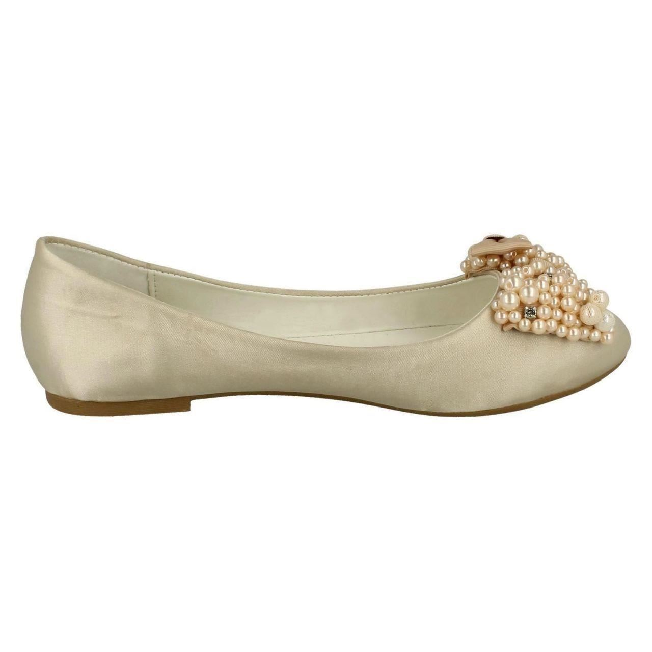 Ladies-Spot-On-F80090-Evening-Ballerina-Shoes-Style-K