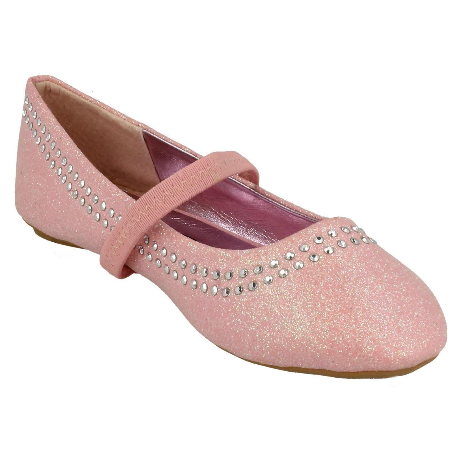 Girls Spot On Flat Party Or Bridesmaid Shoes H2293 ~ K