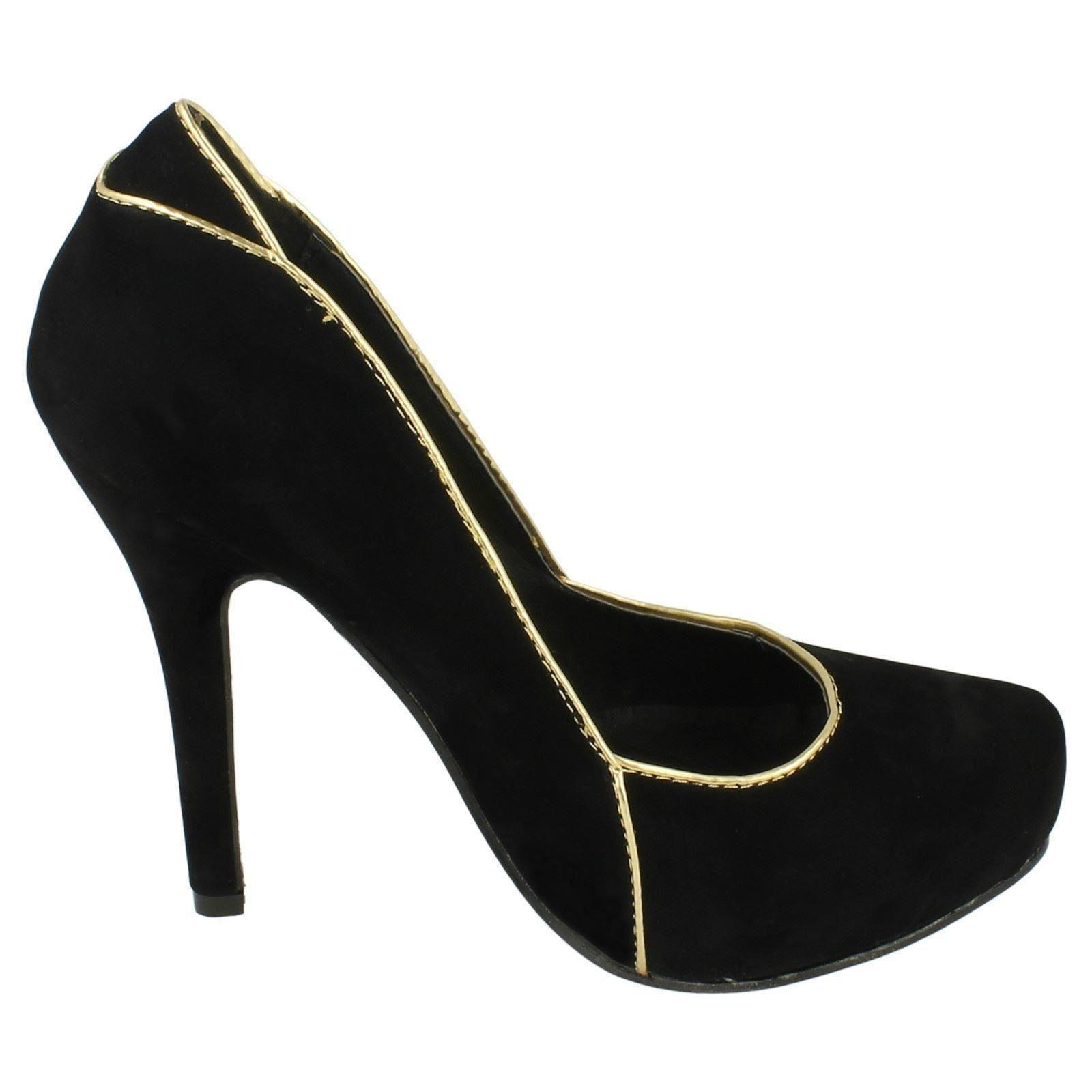 Damas Spot on resbalón en el Tribunal Zapatos Estilo F9583 ~ N