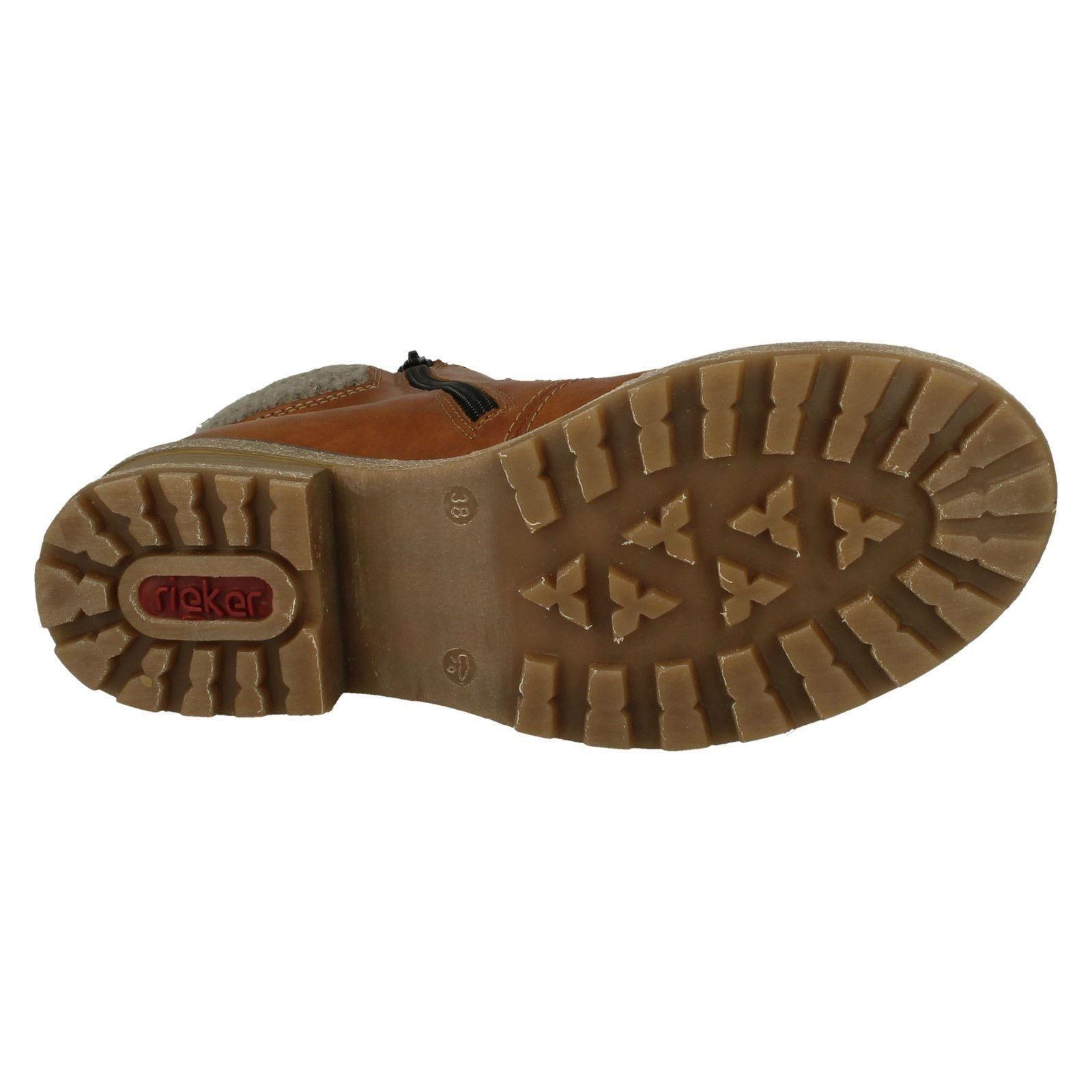 Damas Rieker de punto Brazalete Forro Piel De Piel Forro botas al Tobillo Informales el estilo-Z0444 1570fa