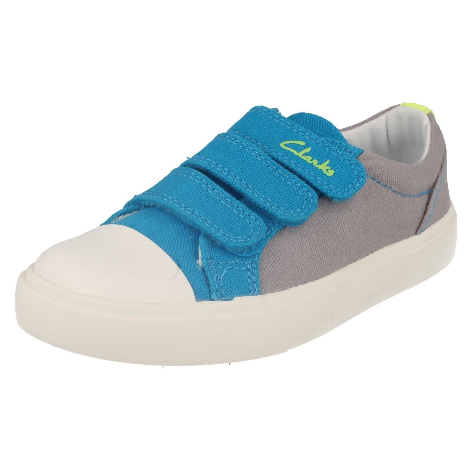 Boys Clarks Sasonal Canvas Summer Shoes The Style - Club Halcy